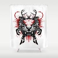 predator Shower Curtains featuring Predator by Enkel Dika