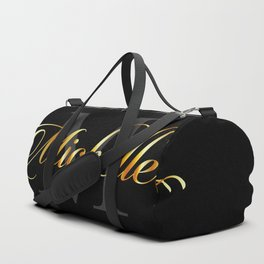 Name and initial of a girl Michelle in golden letters Duffle Bag