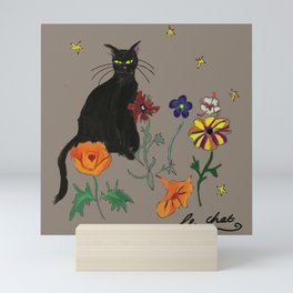 Black cat Le Chat Mini Art Print