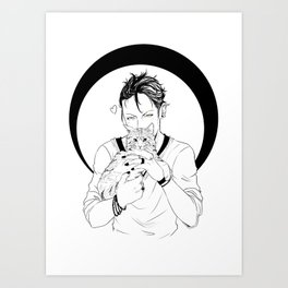 Magnus Bane Art Print