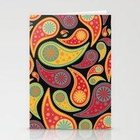 bohemian Stationery Cards featuring Bohemian Paisley  by Digi Treats 2