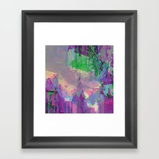 Glitched Landscape 2 Framed Art Print