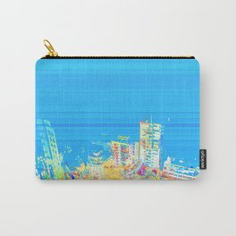Colorful building city eagle view over blue sky 001 Carry-All Pouch