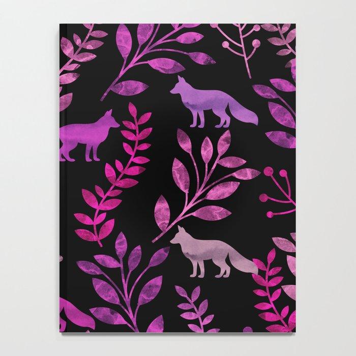 Watercolor Floral & Fox II Notebook