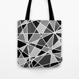 Shattered Charcoal Tote Bag