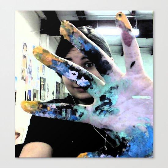 Artist's Hand Canvas Print