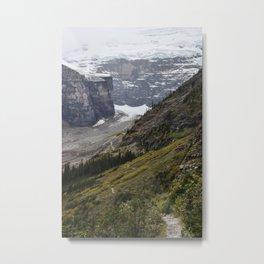 Trail to the Plain of Six Glaciers Teahouse Metal Print