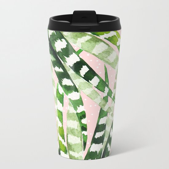 CACTUS WATERCOLOR 02 Metal Travel Mug