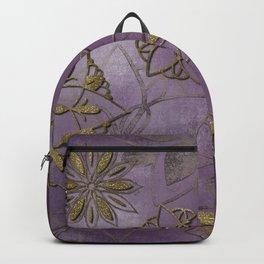 Purple gold mandala Backpack