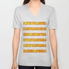 Golden Glitter Girly - Chic Stripes - Duvet Cover  Art - Decor - Magical Stripes Unisex V-Neck