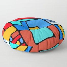 Cargo Ship Containers 10 Floor Pillow