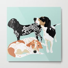 Coonhound Trio Metal Print