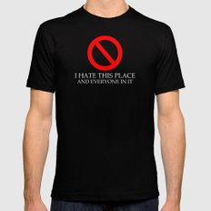 I Hate This Place MEDIUM Black Mens Fitted Tee