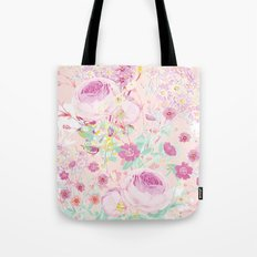 Flower bouquet in pink Tote Bag