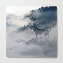 Wolves loup 2 Metal Print