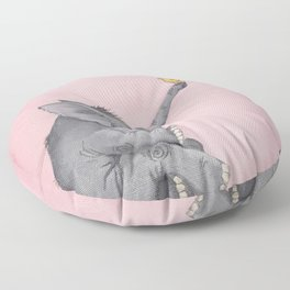 A Little Birdie Told Me - Elephant and Bird Floor Pillow