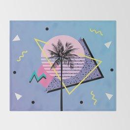 Memphis pattern 46 - 80s / 90s Retro / Palm Tree Throw Blanket