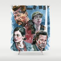 meat Shower Curtains featuring New Meat by kenmeyerjr