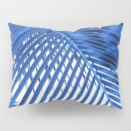 Blue Palm Leaf Pillow Sham