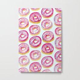 Watercolour Donuts Metal Print