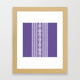 Cable Stripe Violet Framed Art Print