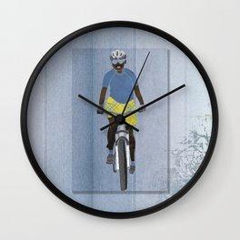 Bicycle girl 1 Wall Clock