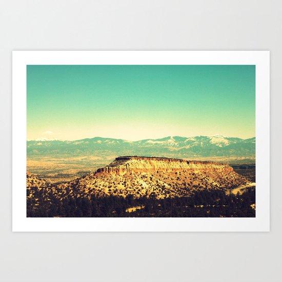 Main Hill, Los Alamos NM Art Print