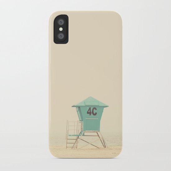 the sound of outer ocean on a beach ... iPhone Case