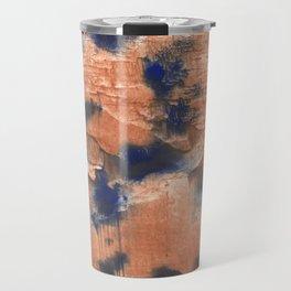 Peach Blue colorful watercolor design Travel Mug