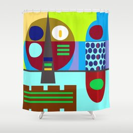 Kraut pop Shower Curtain