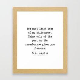 32    | Jane Austen Quotes | 190722 Framed Art Print