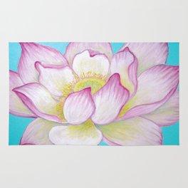 Sacred Lotus Flower Rug