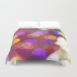 Bright and Blurred City Lights Duvet Cover