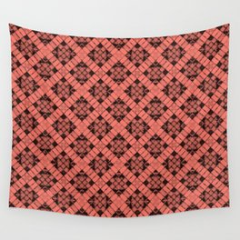Peach Echo Patchwork Wall Tapestry