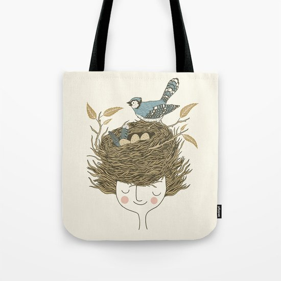 Bird Hair Day Tote Bag