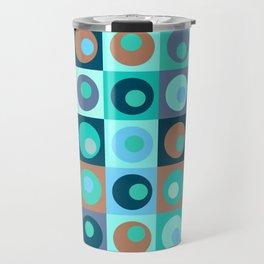 Circles and Squares Pattern 3 Travel Mug