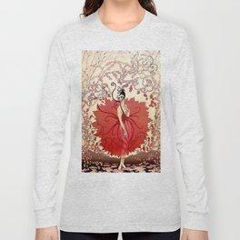 "Delightful Art Deco Illustration ""Blossoms"" Long Sleeve T-shirt"