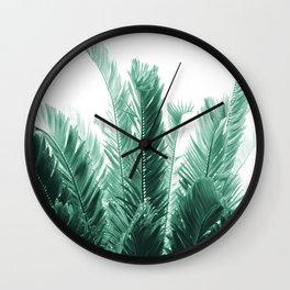 Tropical Leaves Dream #5 #tropical #decor #art #society6 Wall Clock