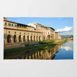The Arno River - Florence Italy Rug
