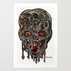 Heads of the Living Dead  Zombies: Layers Zombie Art Print