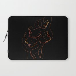 Abstract Faces Laptop Sleeve