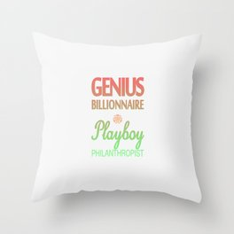GENIUS TONY Throw Pillow