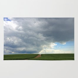 Supercell Thunderstorm, Montana 2013 (color) Rug