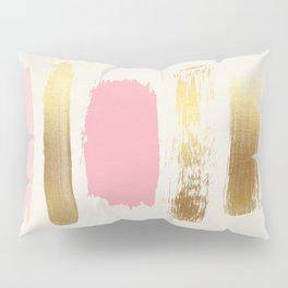 Brush Strokes (Rose/Gold) Pillow Sham
