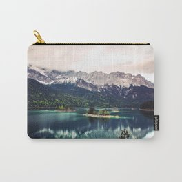 Green Blue Lake and Mountains - Eibsee, Germany Carry-All Pouch