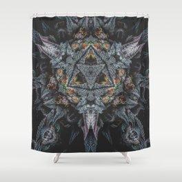 Purple Black Lime Shower Curtain
