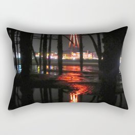 Blackpool Tower Reflection In Water  Rectangular Pillow