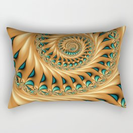 Fractal Splendor, Modern 3D Art Rectangular Pillow