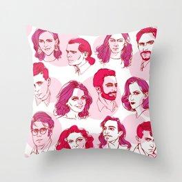 Contemporary Fashion Designers Throw Pillow