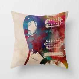 guitar art 1 Throw Pillow